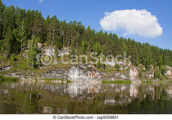 beautiful nature on the river - csp5059651