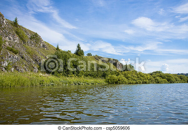 beautiful nature on the river - csp5059606