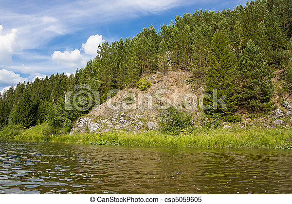 beautiful nature on the river - csp5059605