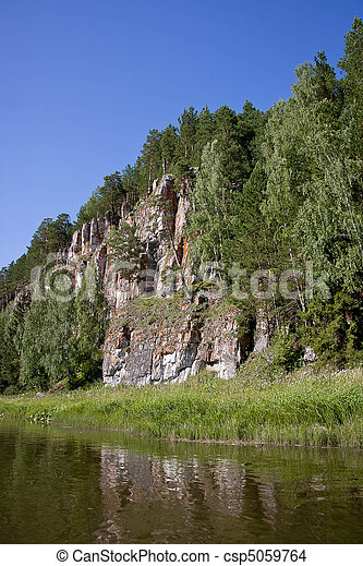 beautiful nature on the river - csp5059764