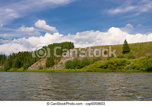 beautiful nature on the river - csp5059603