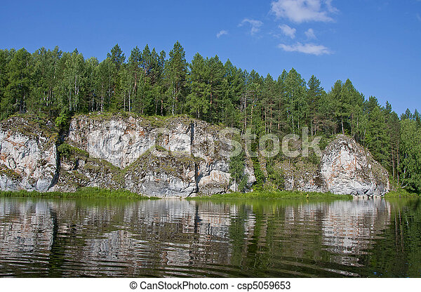 beautiful nature on the river - csp5059653
