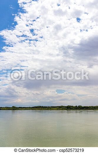 Beautiful nature on the river Syr Darya. Kazakhstan - csp52573219