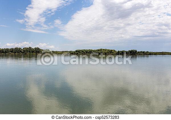 Beautiful nature on the river Syr Darya. Kazakhstan - csp52573283