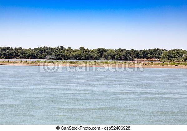 Beautiful nature on the river Syr Darya. Kazakhstan - csp52406928