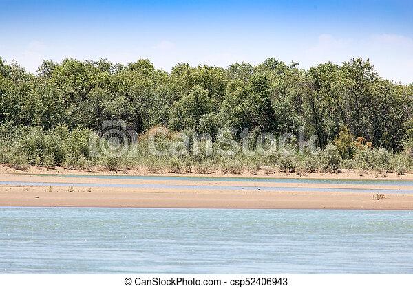 Beautiful nature on the river Syr Darya. Kazakhstan - csp52406943