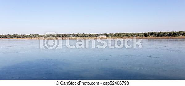 Beautiful nature on the river Syr Darya. Kazakhstan - csp52406798