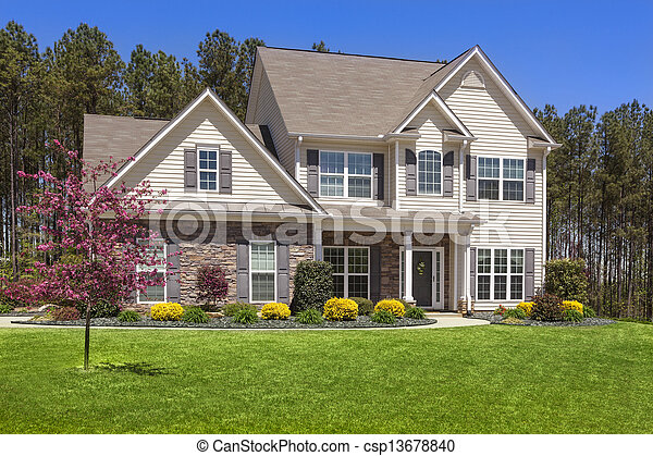 Beautiful Newly Constructed Modern Home - csp13678840