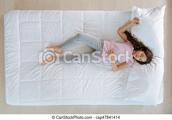 Beautiful Nice Girl Lying On The Bed   Csp47841414