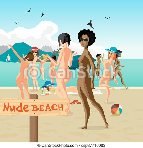 The beautiful nude women bathing assured