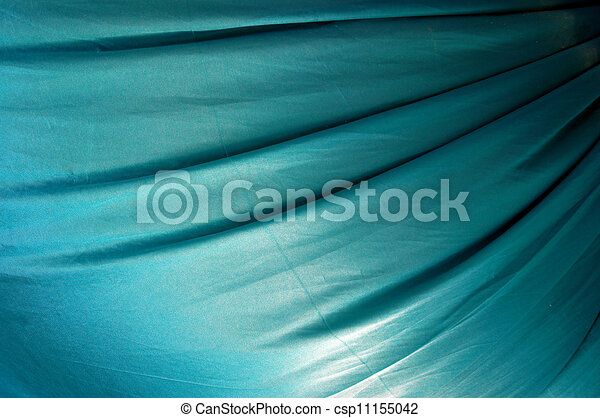 beautiful of blue satin background - csp11155042