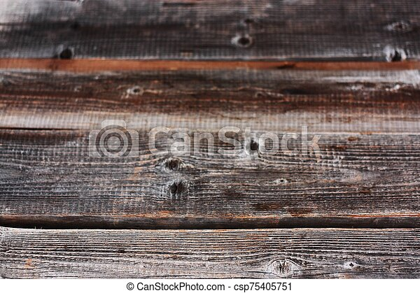 Beautiful old grey wooden background close up - csp75405751