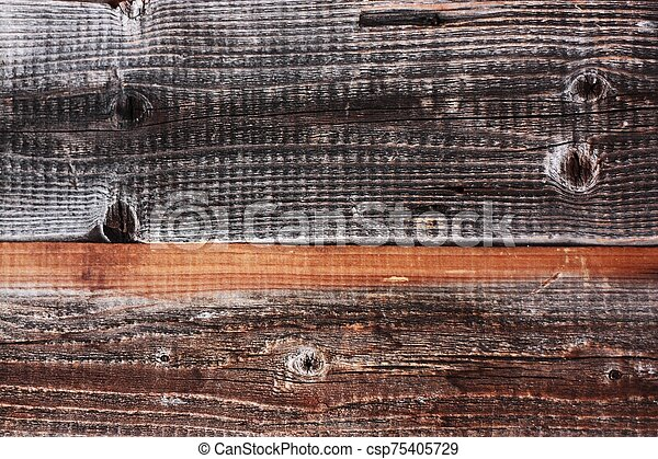 Beautiful old grey wooden background close up - csp75405729