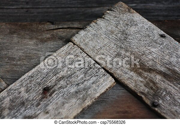Beautiful old grey wooden background close up - csp75568326