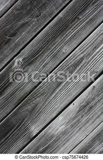 Beautiful old grey wooden background close up - csp75674426