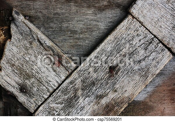 Beautiful old grey wooden background close up - csp75569201