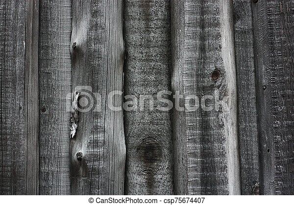 Beautiful old grey wooden background close up - csp75674407