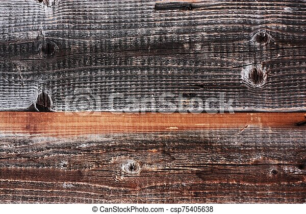 Beautiful old grey wooden background close up - csp75405638