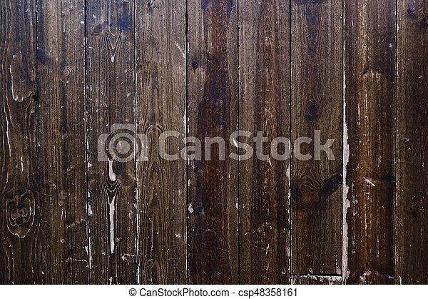 Beautiful old wooden brown background - csp48358161