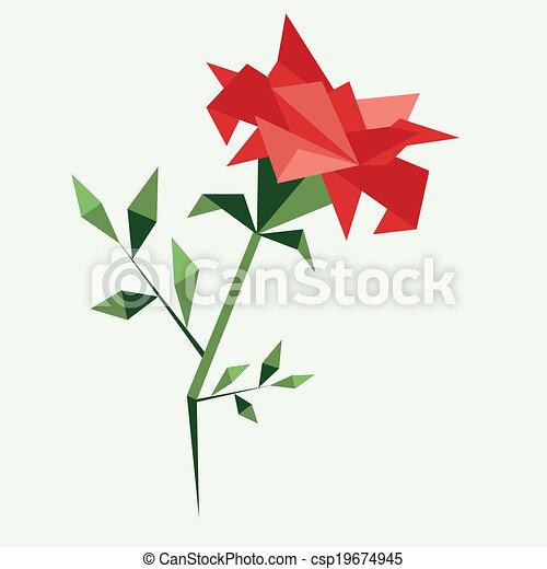 Beautiful Origami Rose