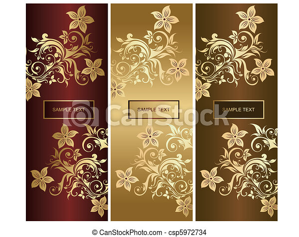 Beautiful ornaments with flowers an - csp5972734