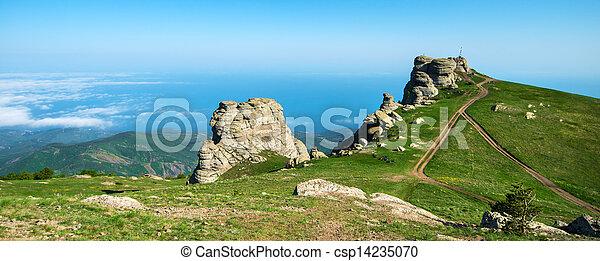 beautiful panorama of the mountains - csp14235070