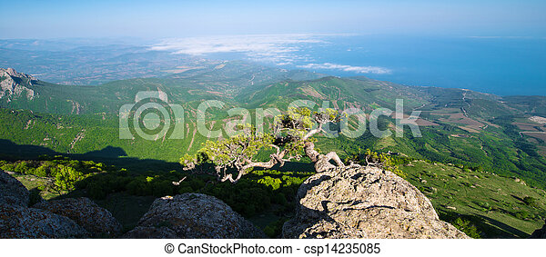 beautiful panorama of the mountains - csp14235085