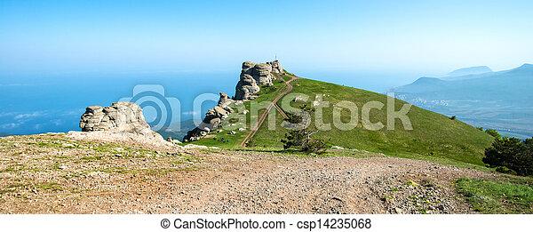 beautiful panorama of the mountains - csp14235068