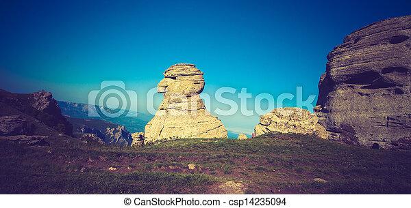 beautiful panorama of the mountains - csp14235094