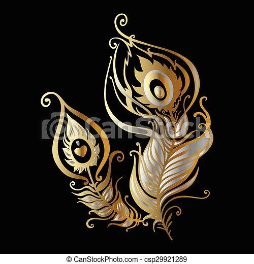 Beautiful peacock feathers - csp29921289