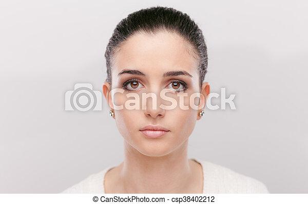 Beautiful pensive woman - csp38402212