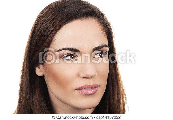 Beautiful pensive woman - csp14157232