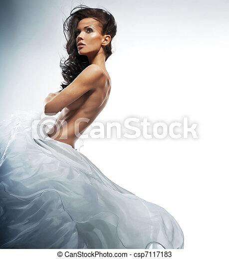 Beautiful photo of amazing woman - csp7117183
