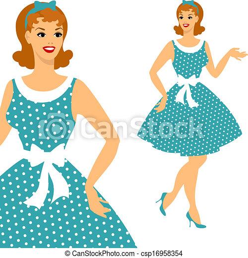 63fbe4738aa Beautiful pin up girl 1950s style. - csp16958354