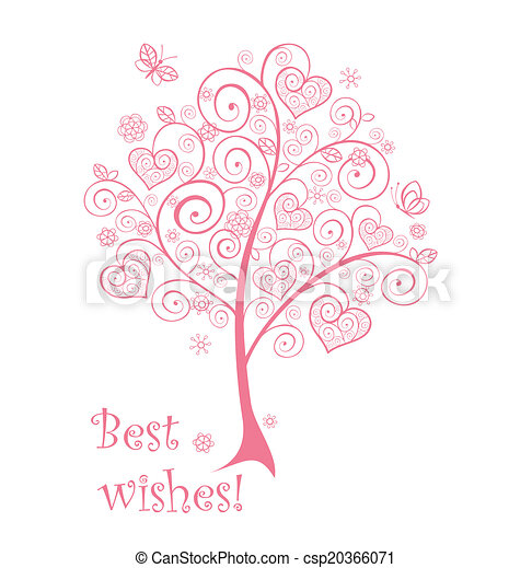 Beautiful pink tree - csp20366071