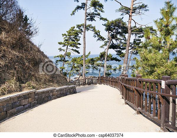 Beautiful place in Naksansa temple, South Korea - csp64037374