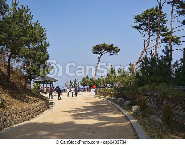 Beautiful place in Naksansa temple, South Korea - csp64037341