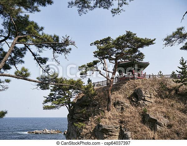Beautiful place in Naksansa temple, South Korea - csp64037397