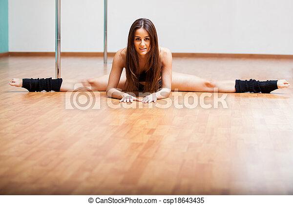 Sexy women doing the splits
