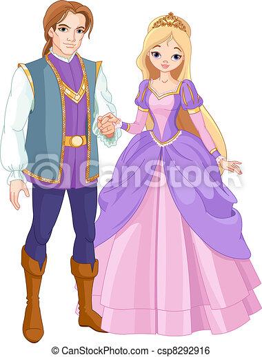 Beautiful prince and princess  - csp8292916