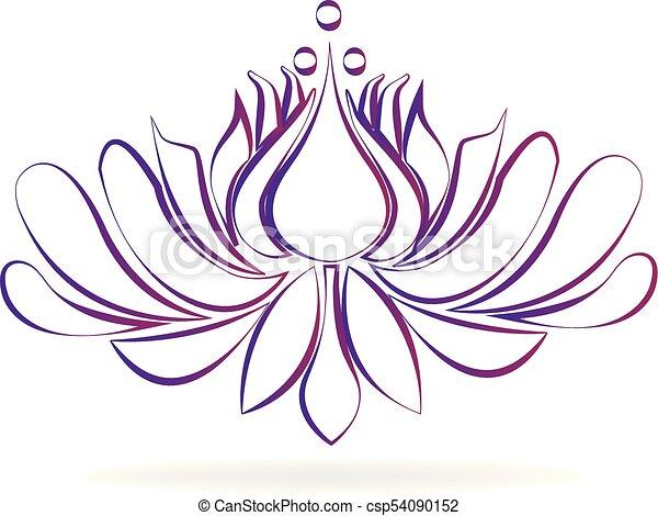 Beautiful purple blossom lotus flower stylized design logo beautiful purple blossom lotus flower stylized design logo csp54090152 mightylinksfo