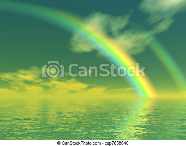 Beautiful rainbow - csp7658640