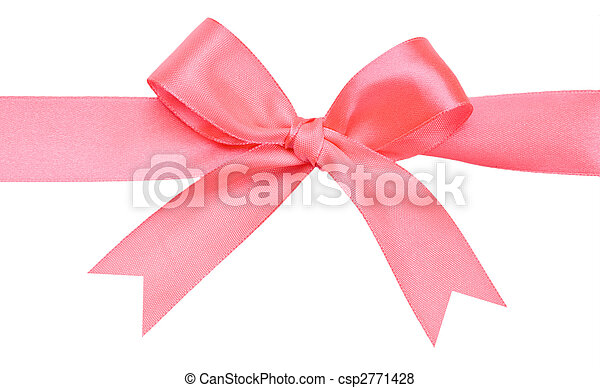 Beautiful red bow on white background - csp2771428