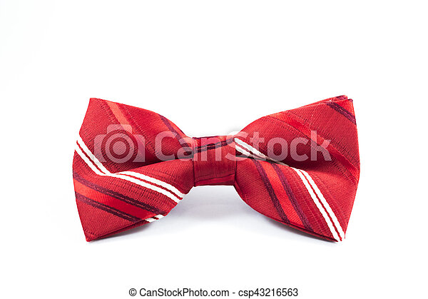 Beautiful red bow. - csp43216563