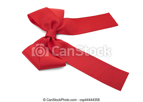 Beautiful red bow. - csp44444358