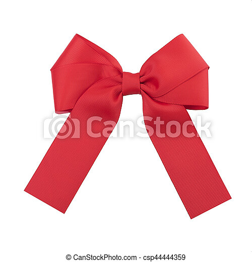 Beautiful red bow. - csp44444359