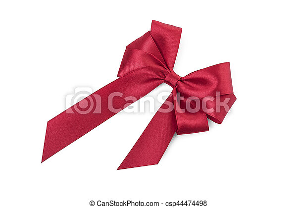 Beautiful red bow. - csp44474498