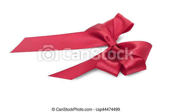Beautiful red bow. - csp44474499