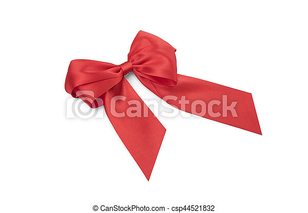 Beautiful red bow. - csp44521832