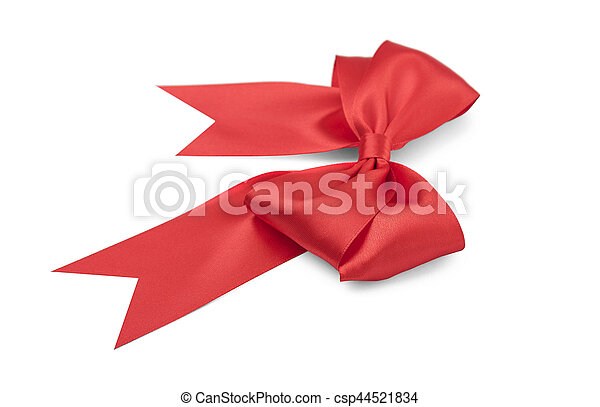 Beautiful red bow. - csp44521834